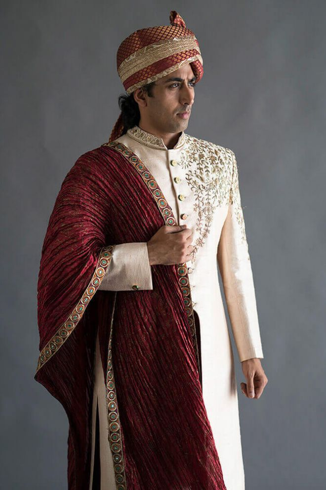 ceremonial indian wedding menswear